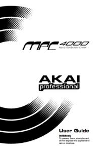 Akai MPC 4000 User Guide